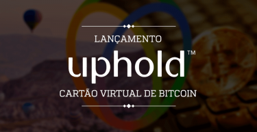 Uphold lança cartão virtual de bitcoins