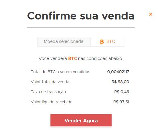 como vender bitcoin na foxbit