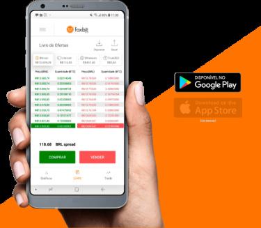 Compre e venda criptos pelo app
