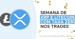 Foxbit party: XRP + Litecoin com taxa zero nos trades (maker e taker)