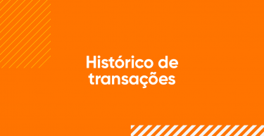 Histórico de transações na plataforma