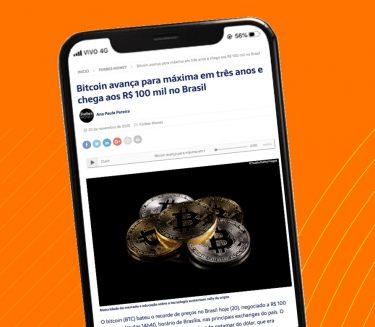 Bitcoin avança para máxima em três anos e chega aos R$ 100 mil no Brasil – Foxbit na Forbes